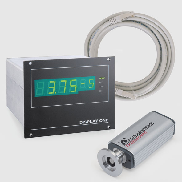 Pirani vacuum gauge with display