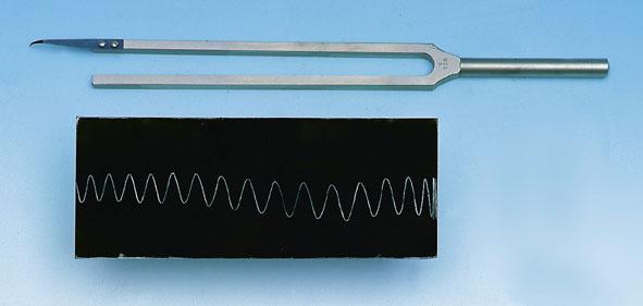 Recording tuning fork