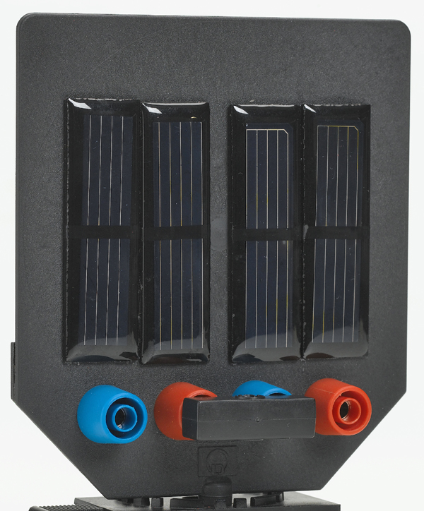 Solar module, 2 V/150 mA, on screen