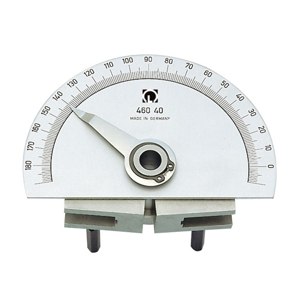 Swivel joint with protractor scale