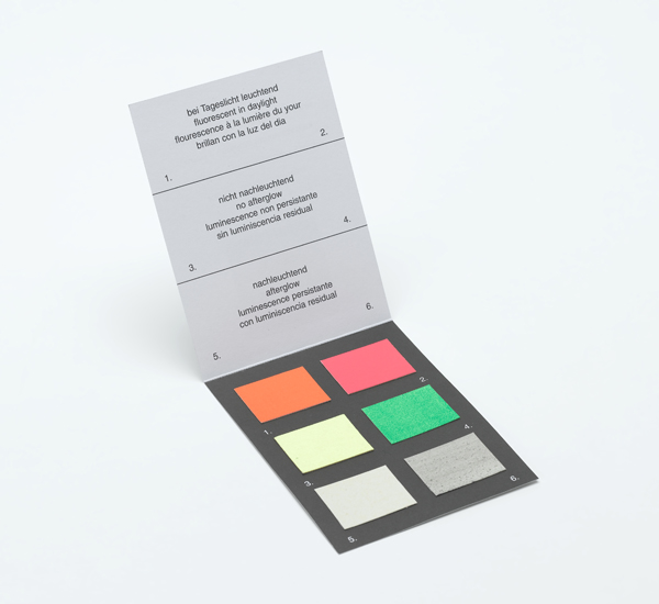 Card with emission colours