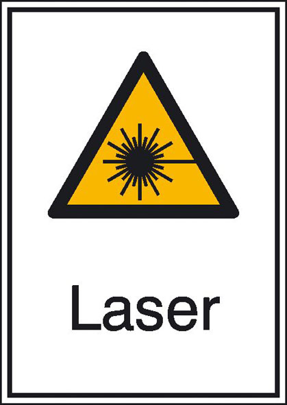 Warnschild: Laser