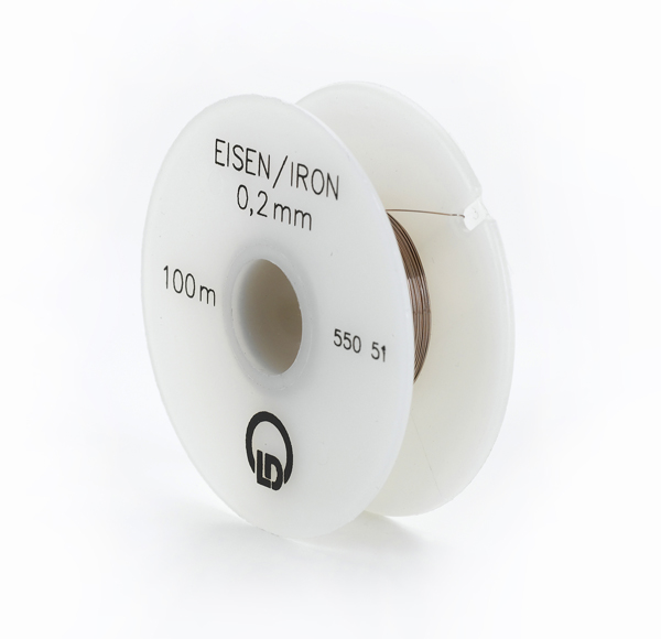 Eisendraht (Widerstandsdraht), 0,2 mm Ø, 100 m