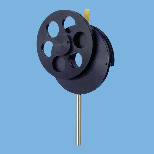 Filter wheel with diaphragm