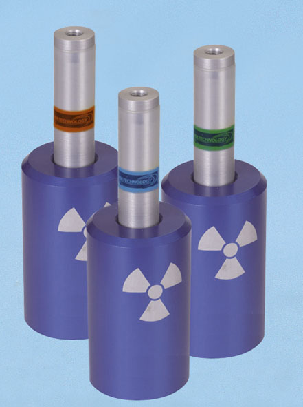 Radioactive preparations, set of 3