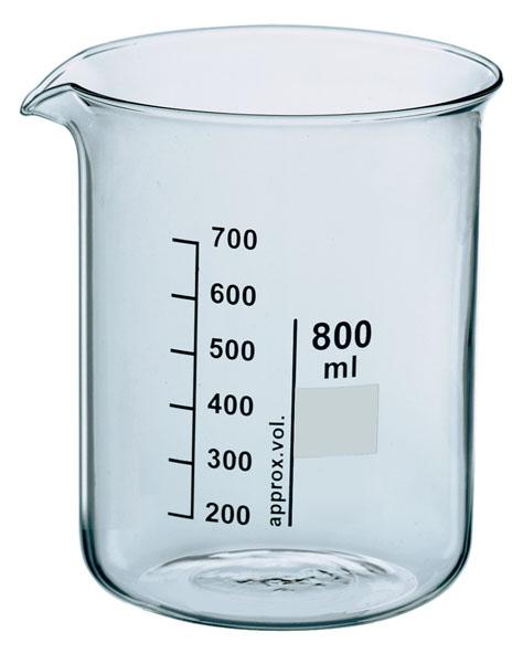 Beaker, Boro 3.3, 2000 ml, squat