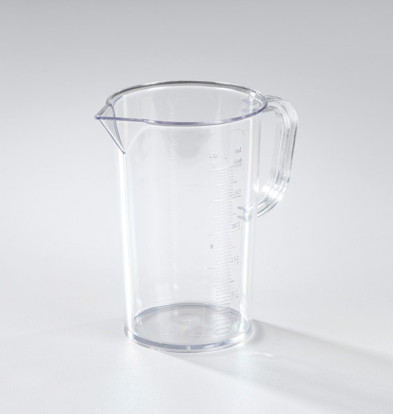 Measuring beaker, clear SAN 500 ml