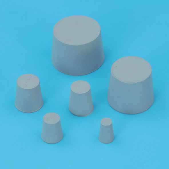Rubber stopper, solid, 4-8 mm diam.
