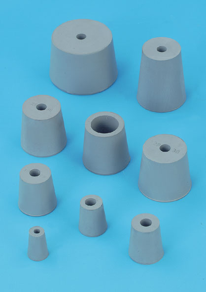 Rubber stopper, one 7-mm hole, 42...49 mm diam.