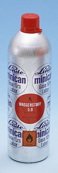 Minican pressurised gas canister, neon