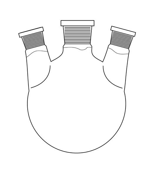 triple necked flask
