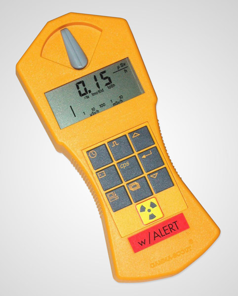 Geiger counter with ticker