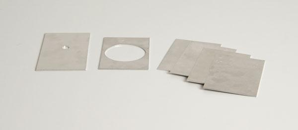 Rahmen und Satz Al-Platten