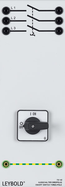On/off switch, three-pole