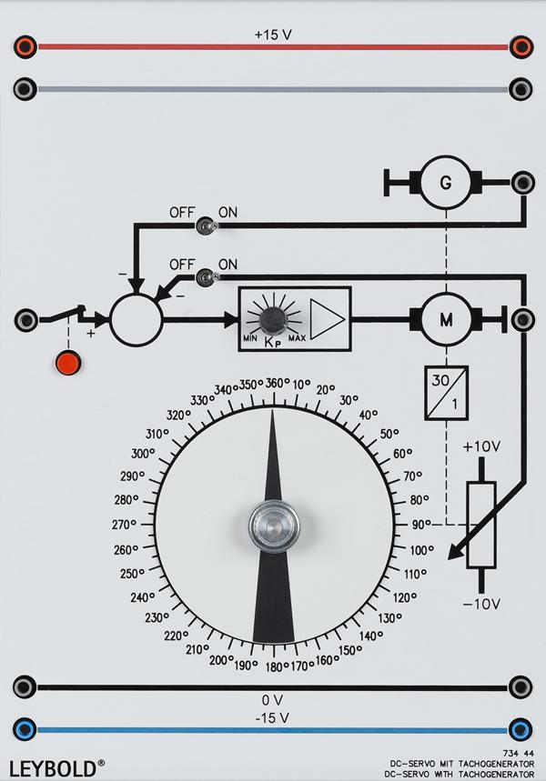 DC servo with tachogenerator