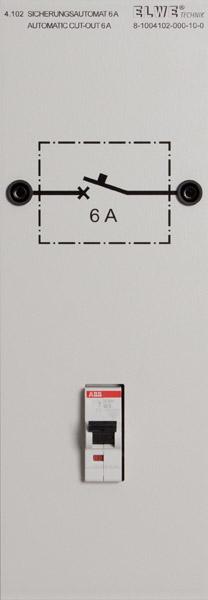 """P 4.102 """"Sicherungsautomat 6 A"""""""