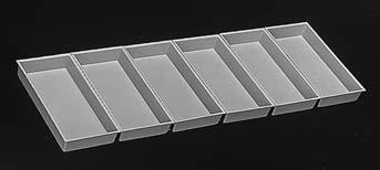 Storage trays, 86 x 172 x 26, set of 6