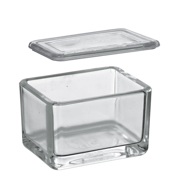Glass trough with cover alone