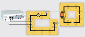Model of a relay - Assembly using connector blocks