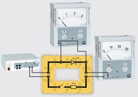 Kennlinien von Leuchtdioden - Aufbau mit Leiterbausteinen