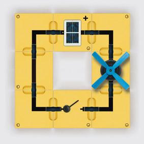 Umwandlung von Lichtenergie in mechanische Energie - Motor mit Flügelrad