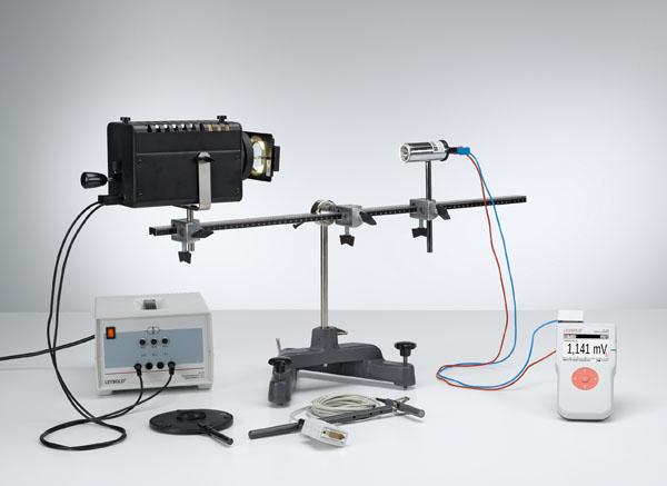 Bestimmung der Bestrahlungsstärke und der Beleuchtungsstärke einer Halogenlampe
