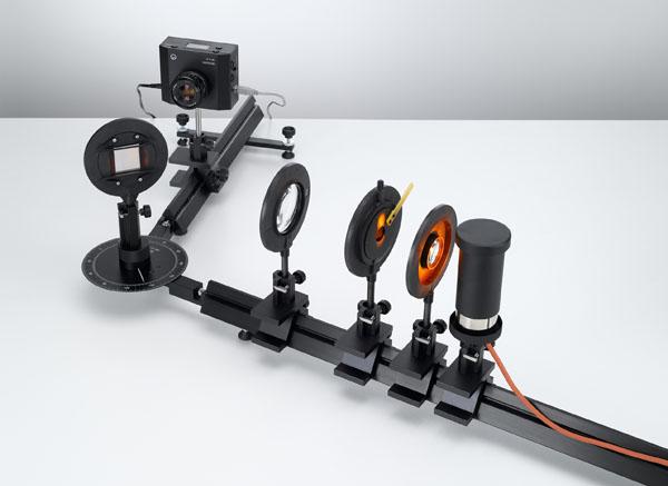 Assembling a grating spectrometer for measuring spectral lines