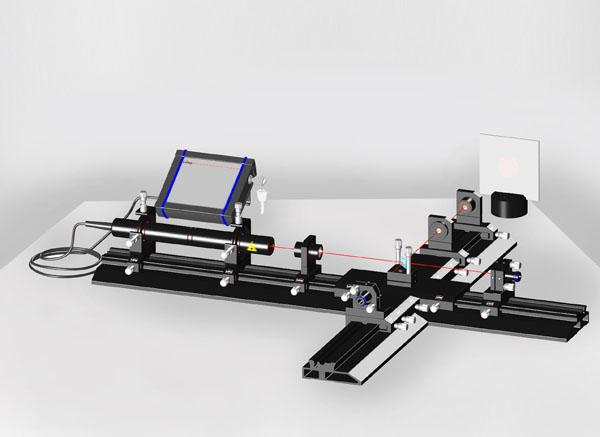 Michelson laser interferometer - Basic setup