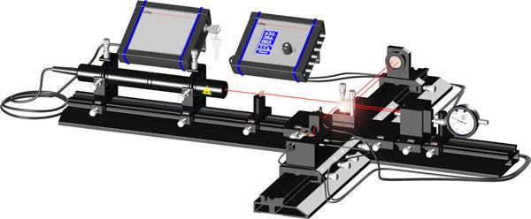 Michelson Laserinterferometer - Basisausstattung mit Streifenzähler und manueller Verschiebung